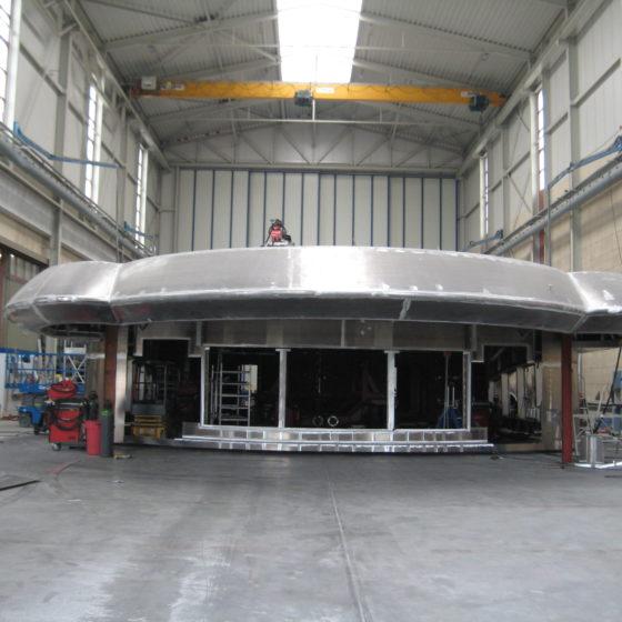 Opbouw megajacht BN 90 – 2016 - 2
